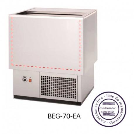 Enfriador de botellas, fondo plano, brazos rectos BEG-70-EA 1 Puerta