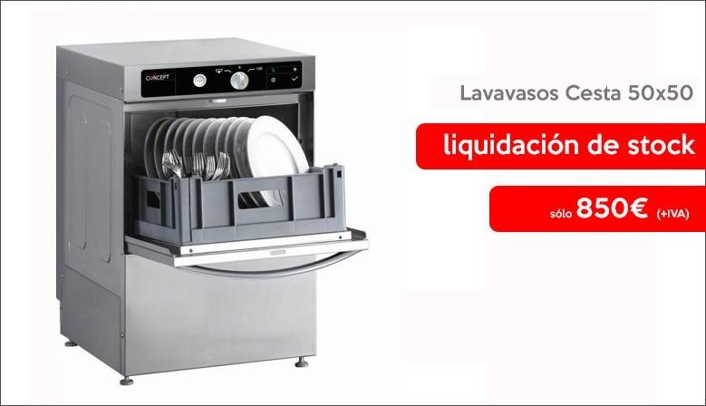 Oferta Lavavasos hosteleria Cesta 50 x 50