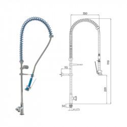 Grifo ducha industrial hostelería GD1 E
