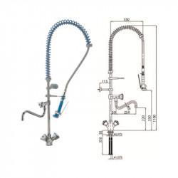Grifo ducha de 2 aguas con caño hostelería
