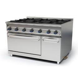 Cocina modular a gas M-1200/6H