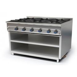 Cocina modular a gas M-1200/6E (Sin Horno)